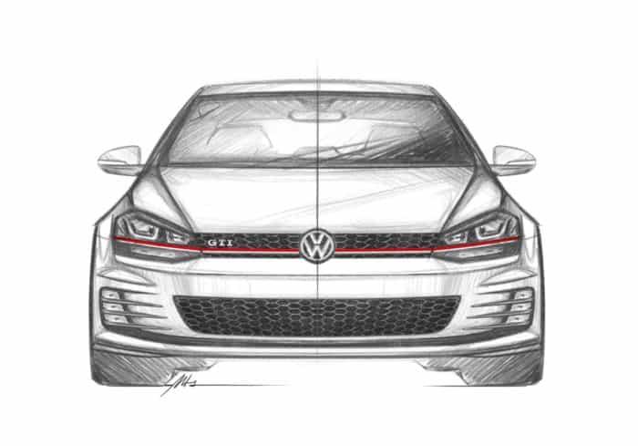 Golf GTI Mk7 front sketch