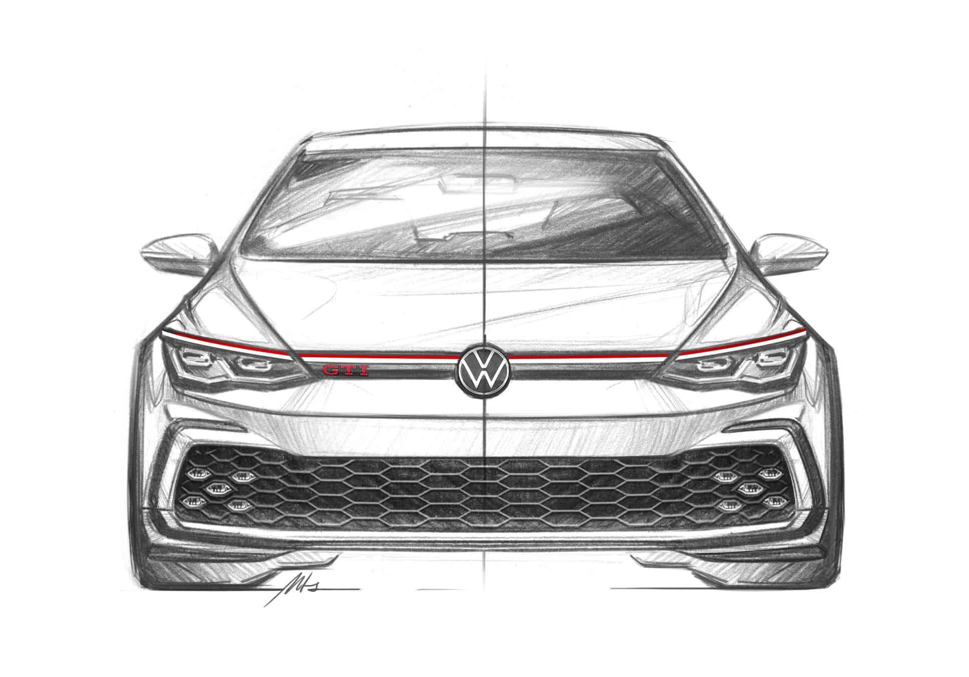 VW GTI Mk8 sketch