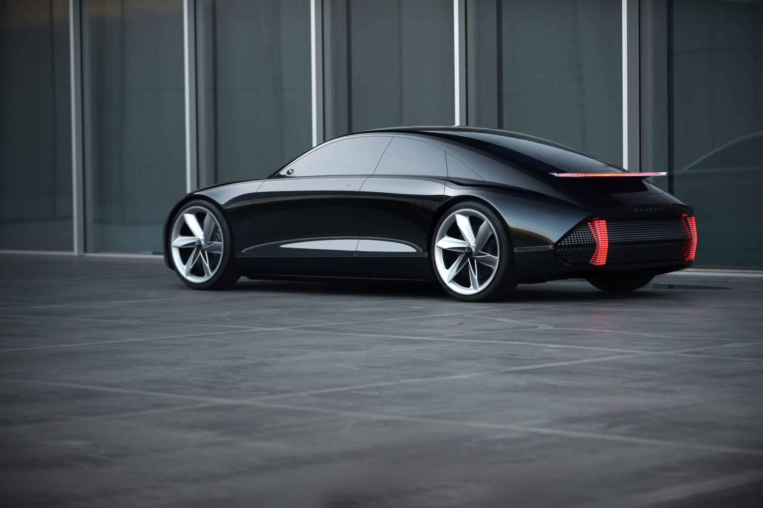 Black Hyundai Prophecy Concept Car rear three quarter view