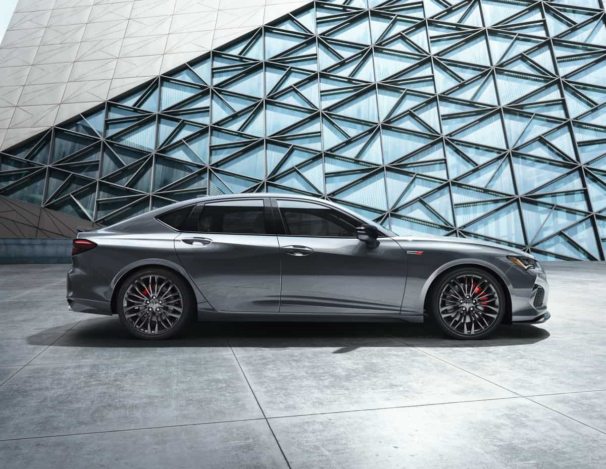 2021 Acura TLX Side Profile silver