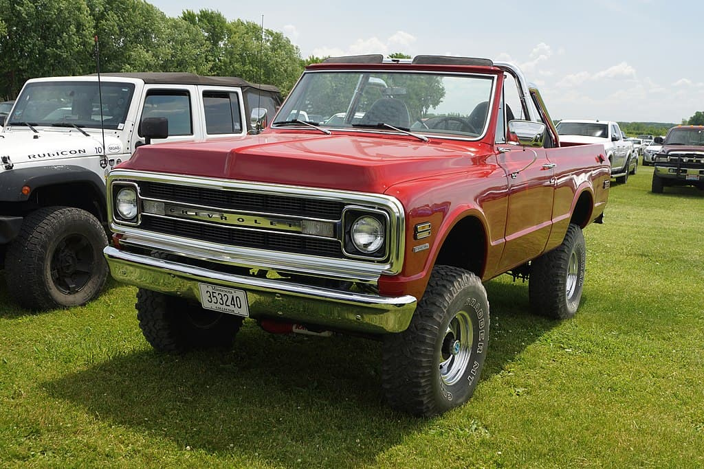 1970 blazer red top removed vintage 4x4