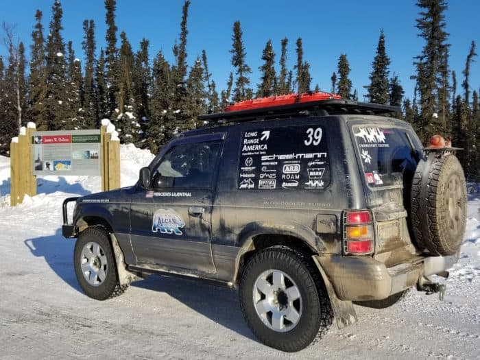 1991 Mitsubishi Pajero and Nitto Exo Grapplers during Alcan 5000 Rally