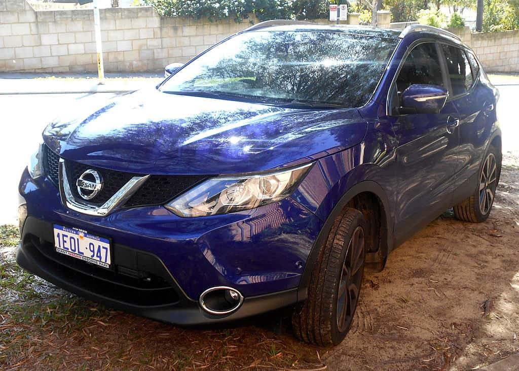 new british car industry Nissan Qashqai blue