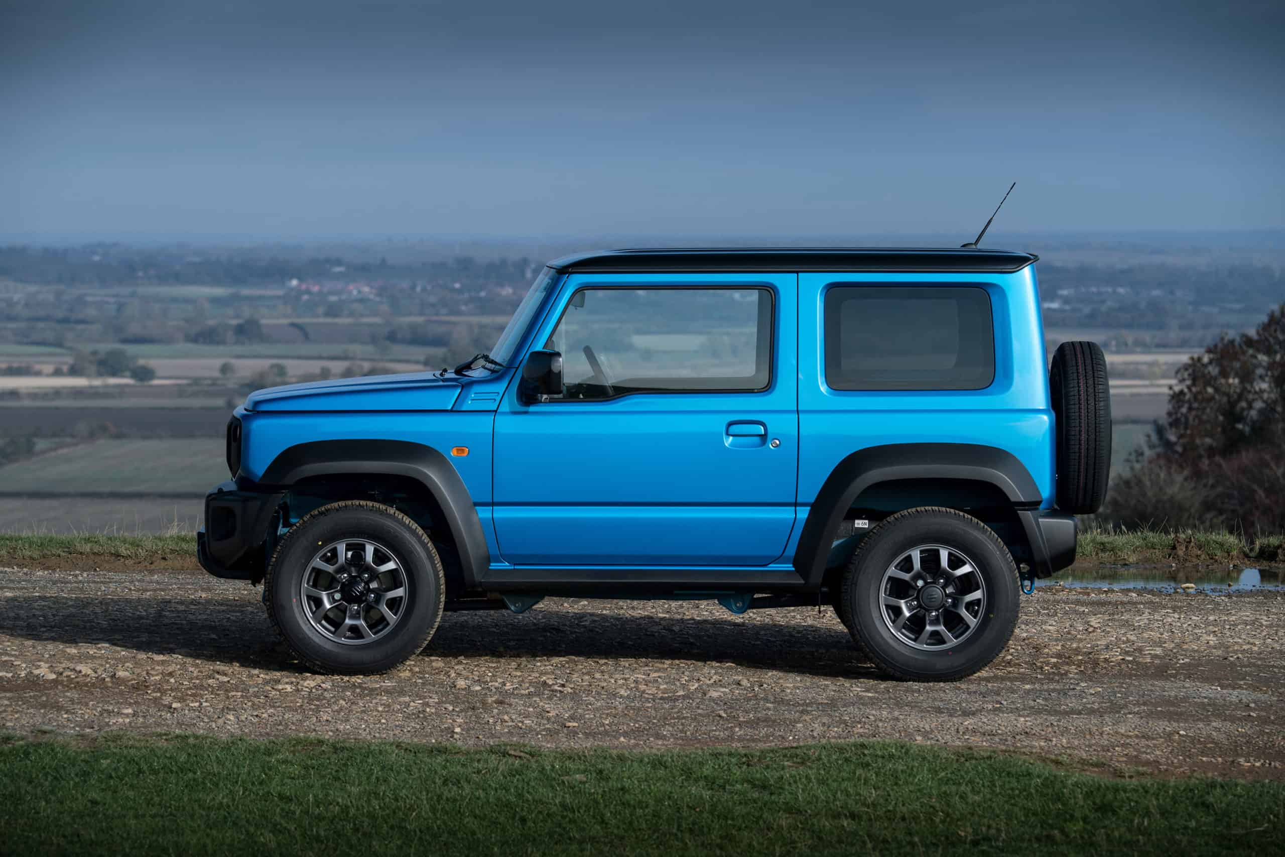 blue modern Suzuki Jimny