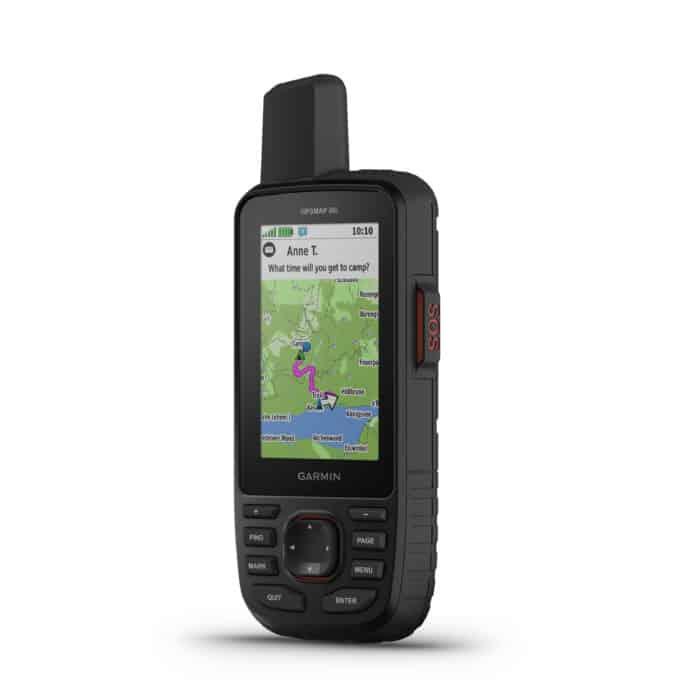 Garmin GPSMAP66i map navigation screen