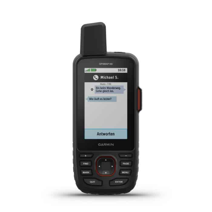 Garmin GPSMAP66i messages screen