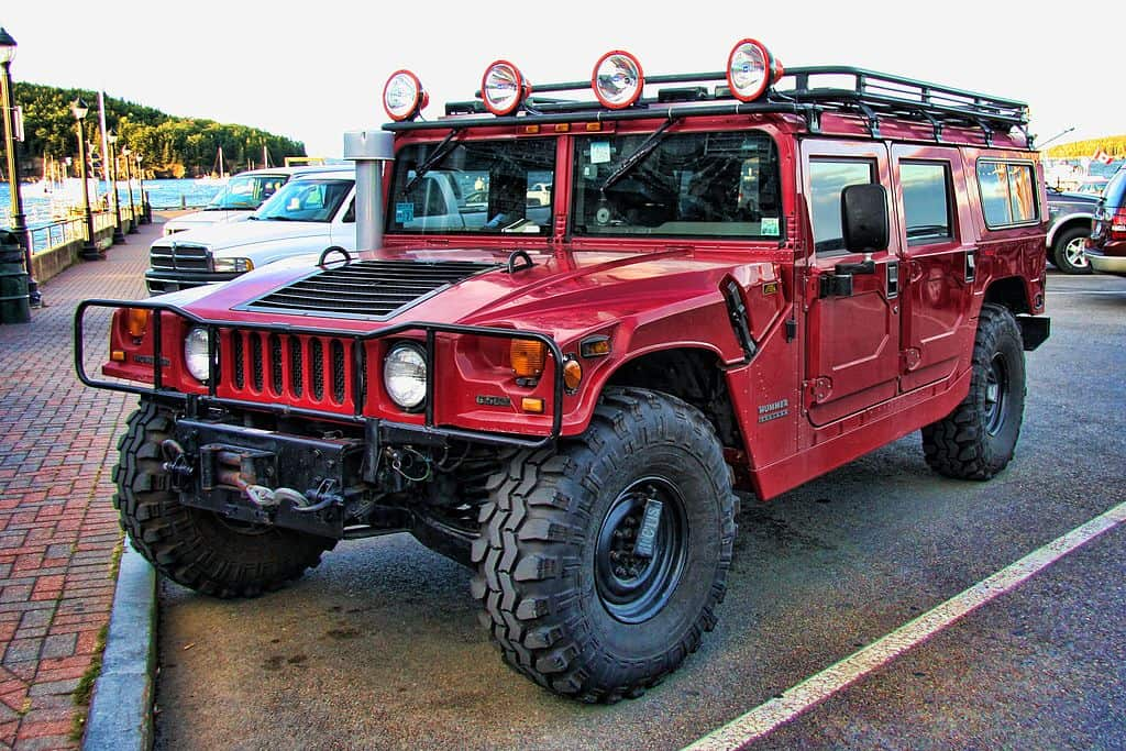 hummer h1 in red collectible suv