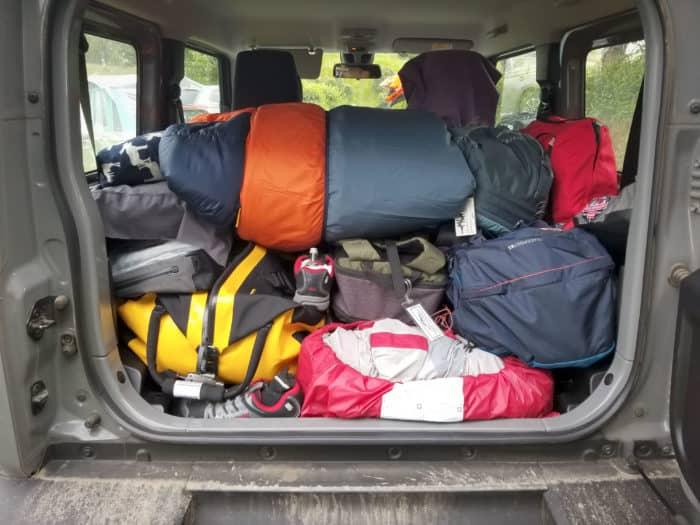 Suzuki Jimny camping