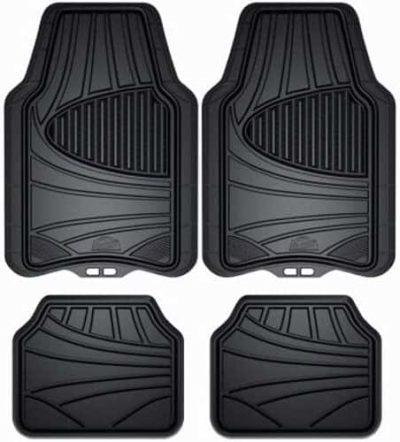 Armor All 4-Piece Black All Season Rubber Floor Mat