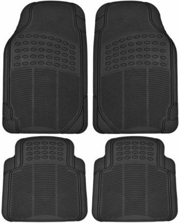 BDK Heavy Duty 4pc Front & Rear Rubber Floor Mats