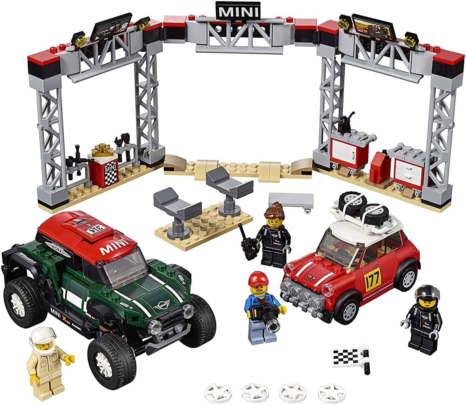 mini cooper car lego set