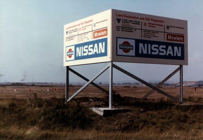 nissan british manufacturing plant sign