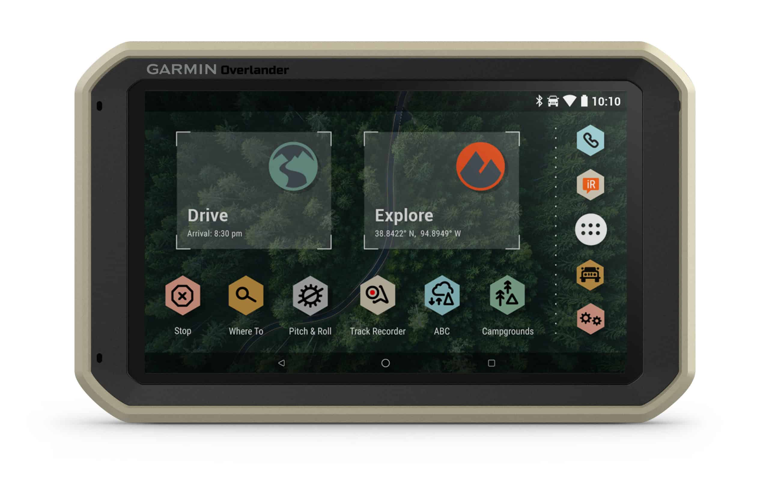 Garmin Overlander home screen