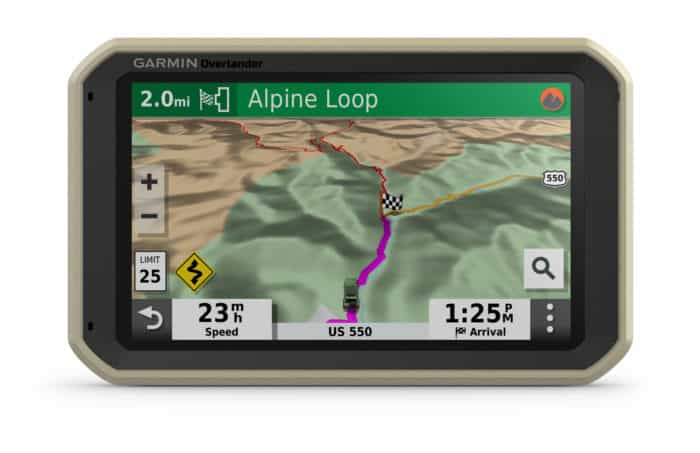 Garmin Overlander off road point to point navigation