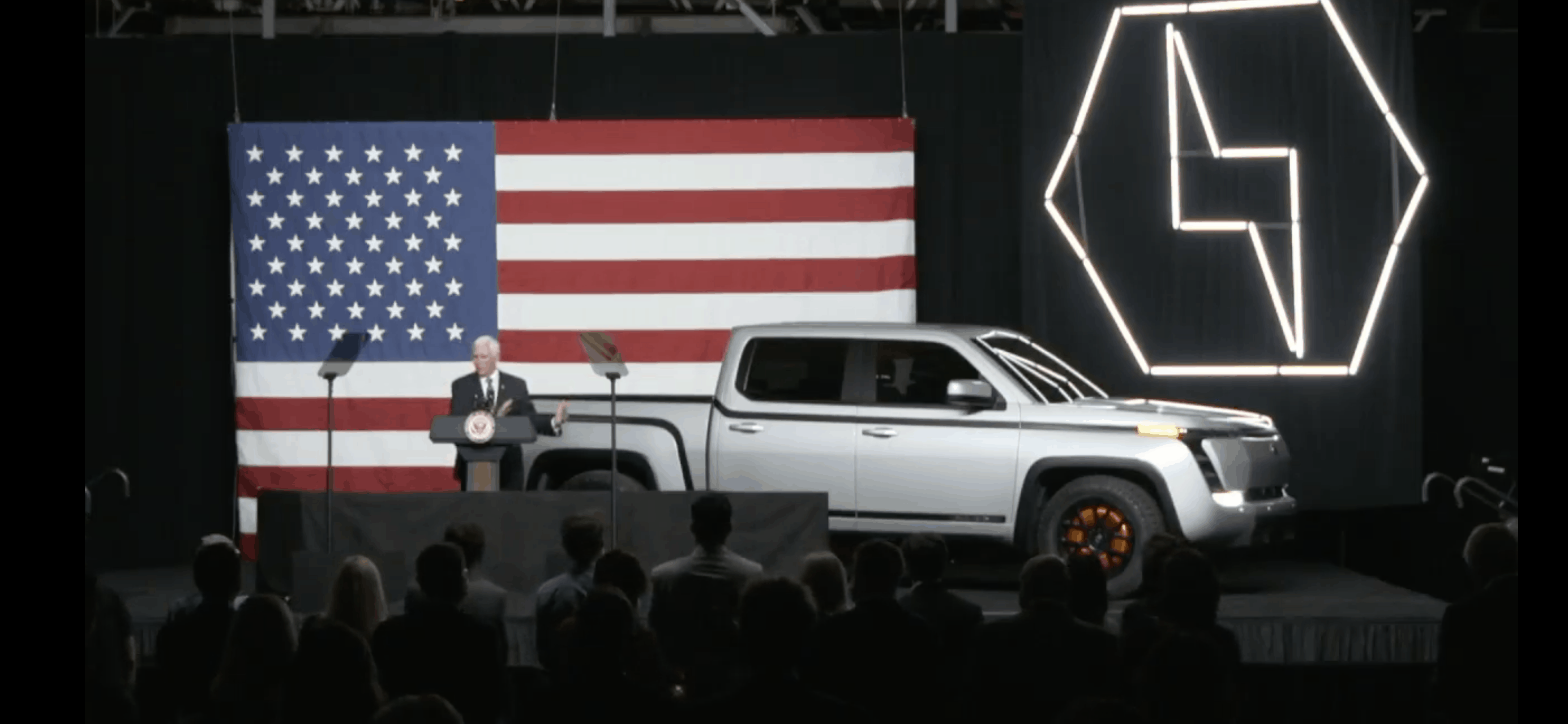 VP Pence at Endurance truck reveal