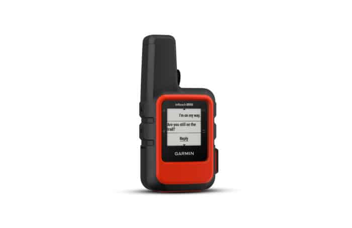 Garmin InReach Mini messaging screen