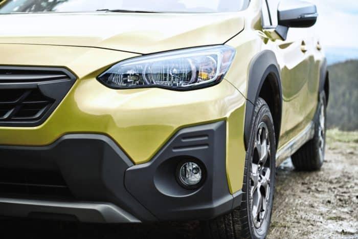 2021 Subaru Crosstrek Sport's exterior accents