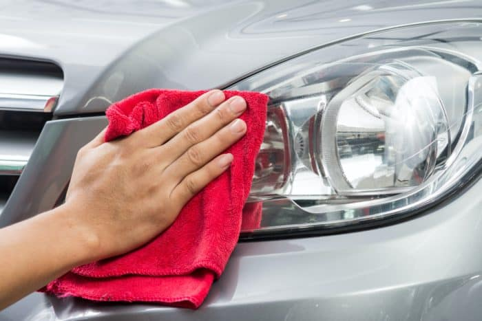 Clean Headlights with Soap and Water