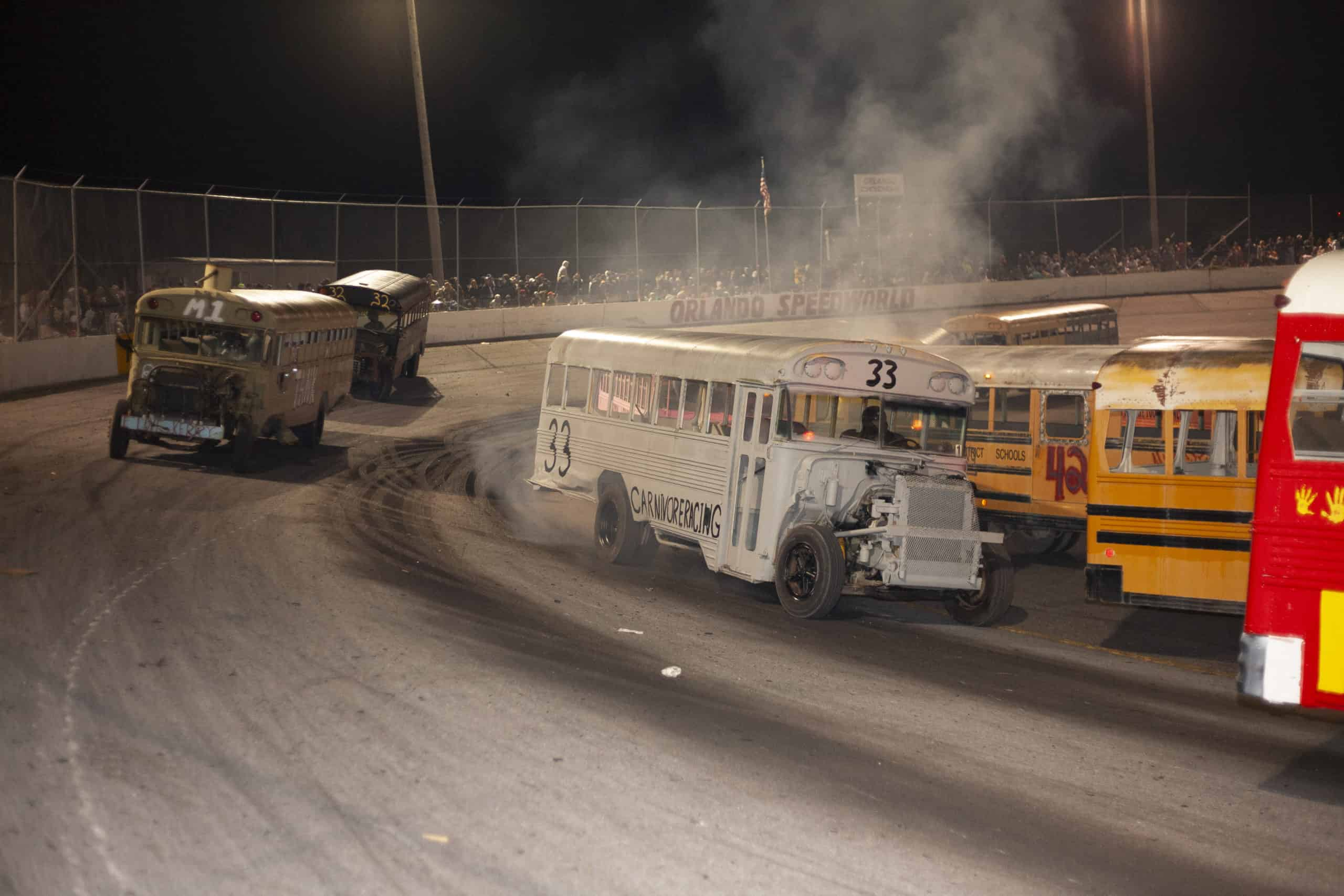 smoking destroyed school bus