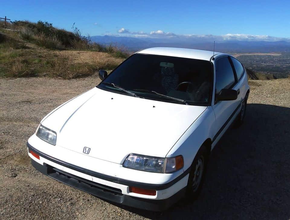 1988 Honda CRX DX white hatchback