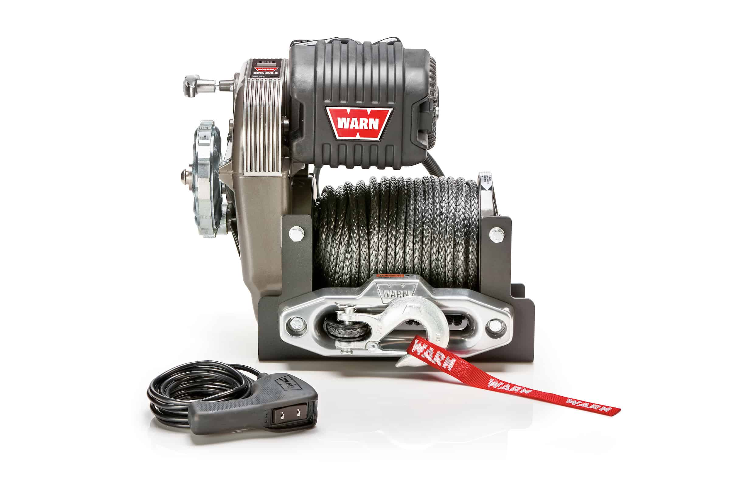 new WARN M8274-S winch with synthetic rope