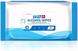 Use alcohol wipes to disinfect a car