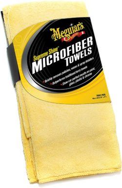 Microfiber towels for disinfecting a car