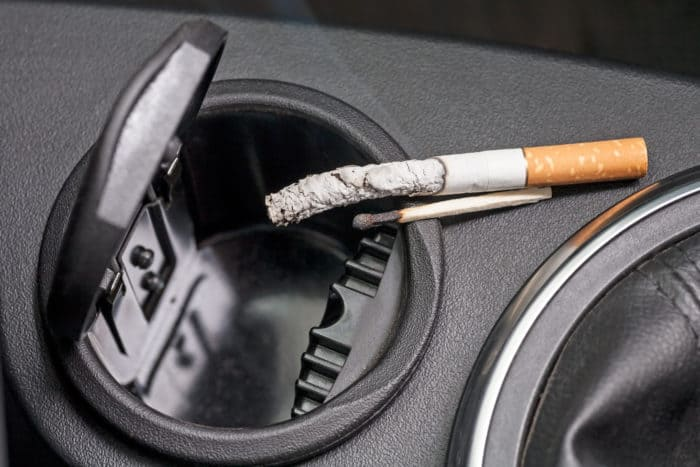 how to get cigarette smell out of a car