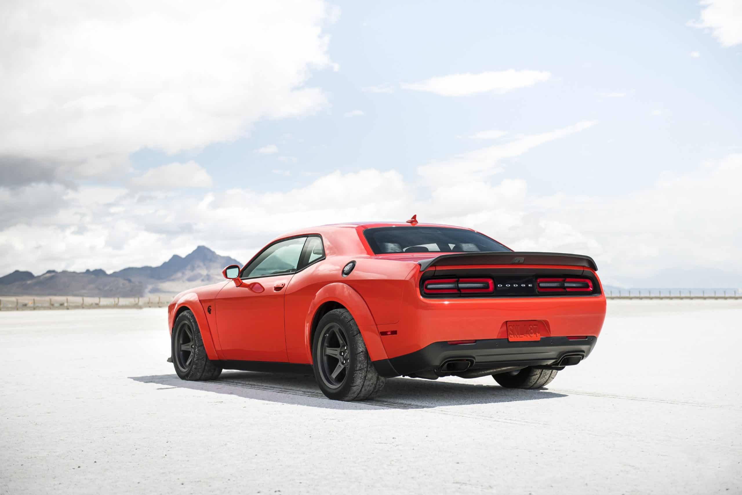 2020 Dodge Challenger SRT Super Stock rear view