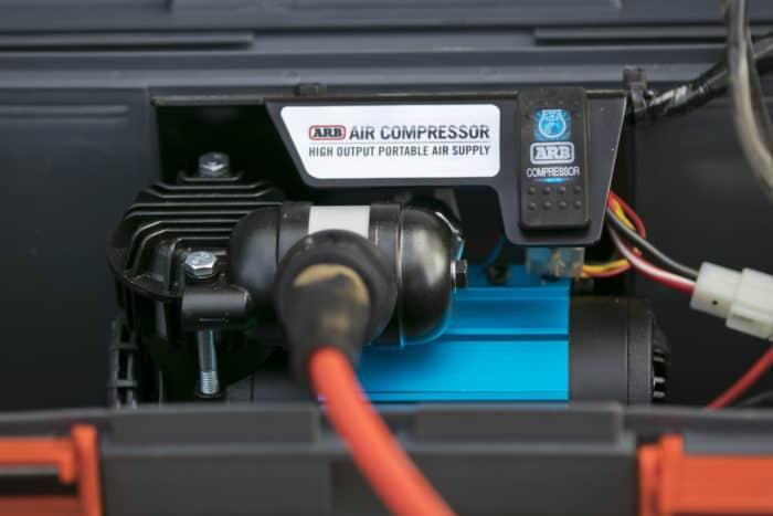 ARB single portable air compressor CKMP12 detail shot