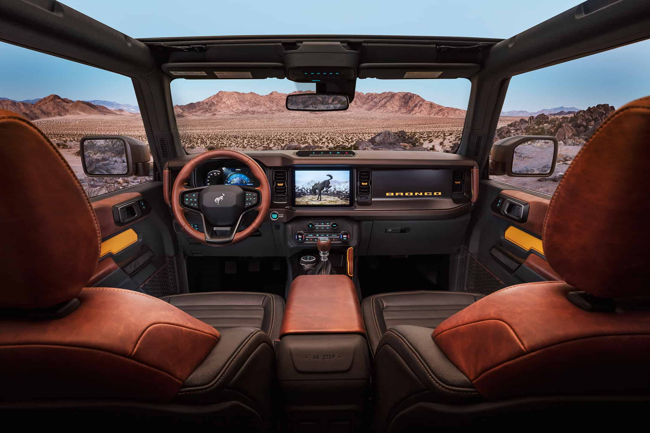 2021 Ford Bronco interior