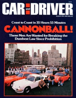 1975 Car and Driver Cannonball cover