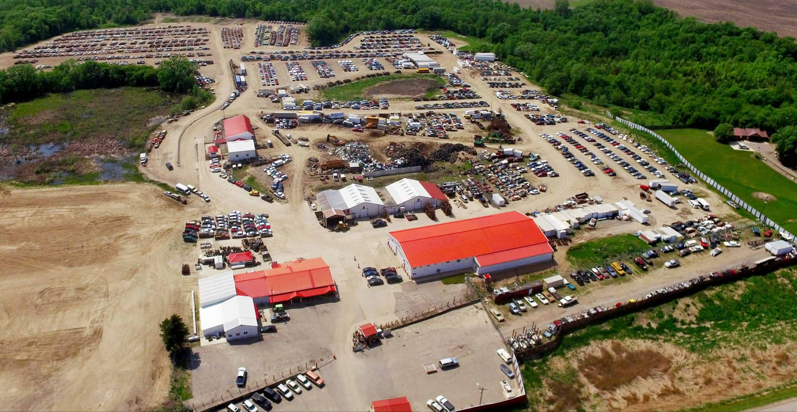 French Lake Auto Parts aerial view