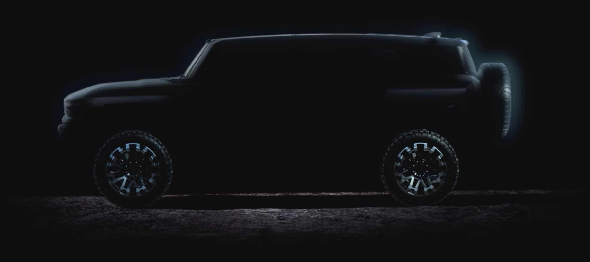 GMC Hummer EV SUV teaser