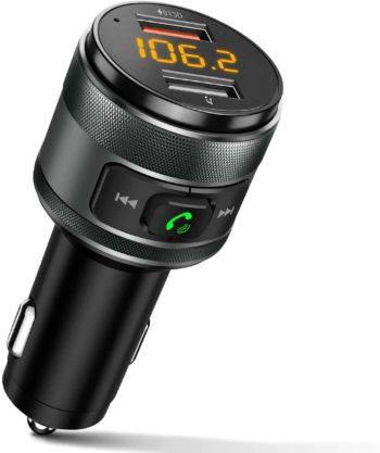Bluetooth FM Transmitter with 2 USB ports