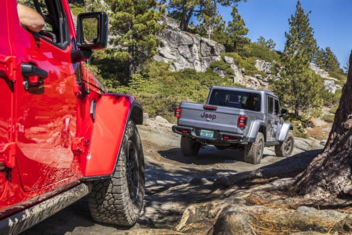 best 4x4 truck 2020 Jeep Gladiator Rubicon on the Rubicon Trail