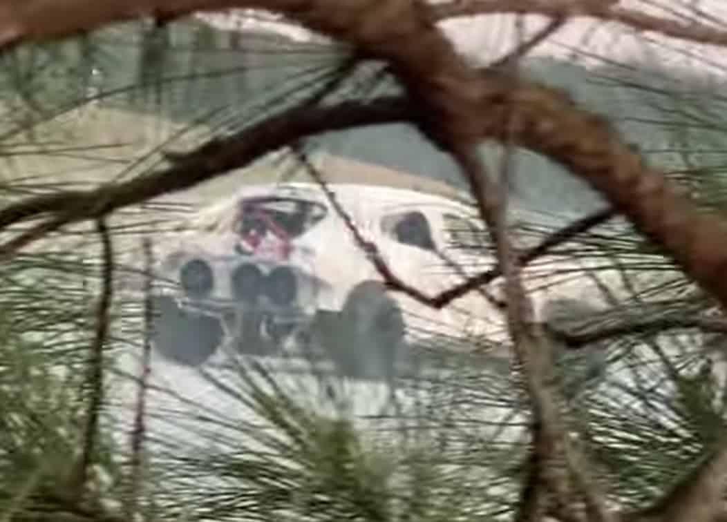 spy footage screen grab of mach-e drift car