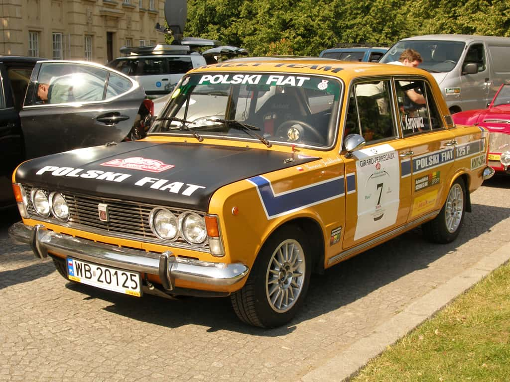 Polski Fiat 125p Monte Carlo Rally Car