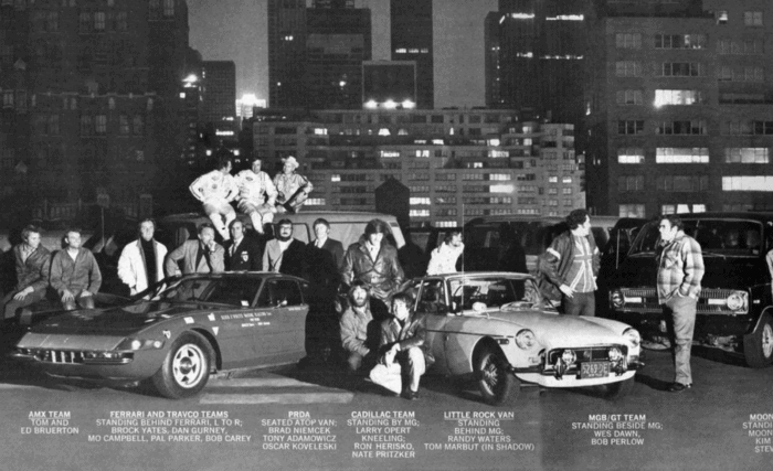1972 Car and Driver spread of Cannonball teams