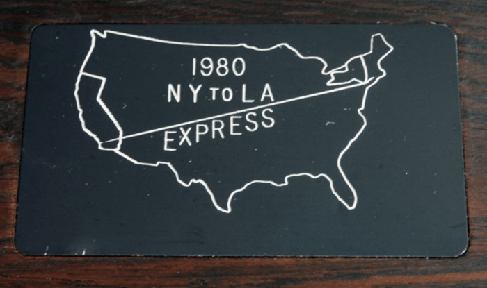 US Express plaque