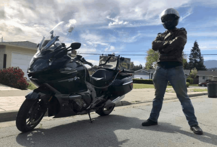 Calvin Cote 2019 Motorcycle Cannonball Record holder