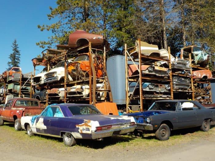 Wildcat Auto Wrecking racks