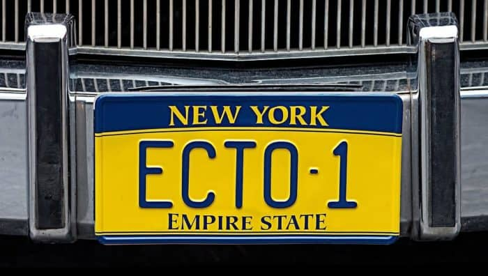 Ecto-1 license plate