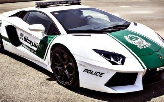 Dubai police cars list