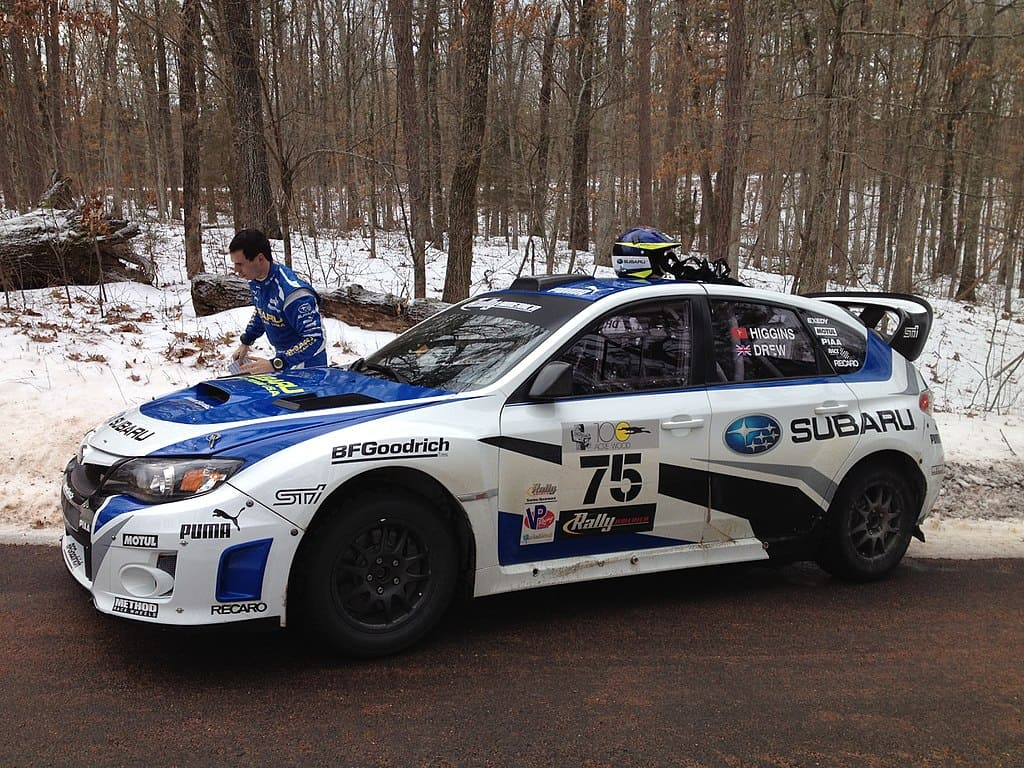 rally in america Subaru STI rally car