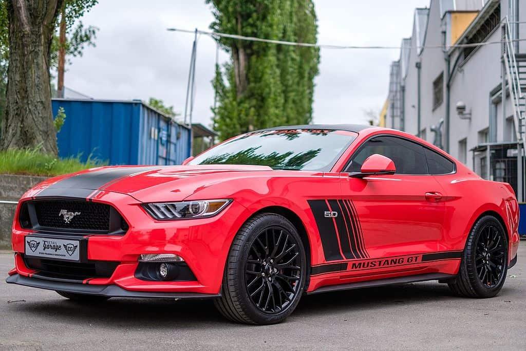 Red Mustang GT