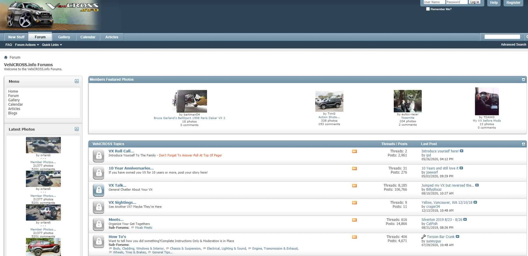 vehicross.info forum