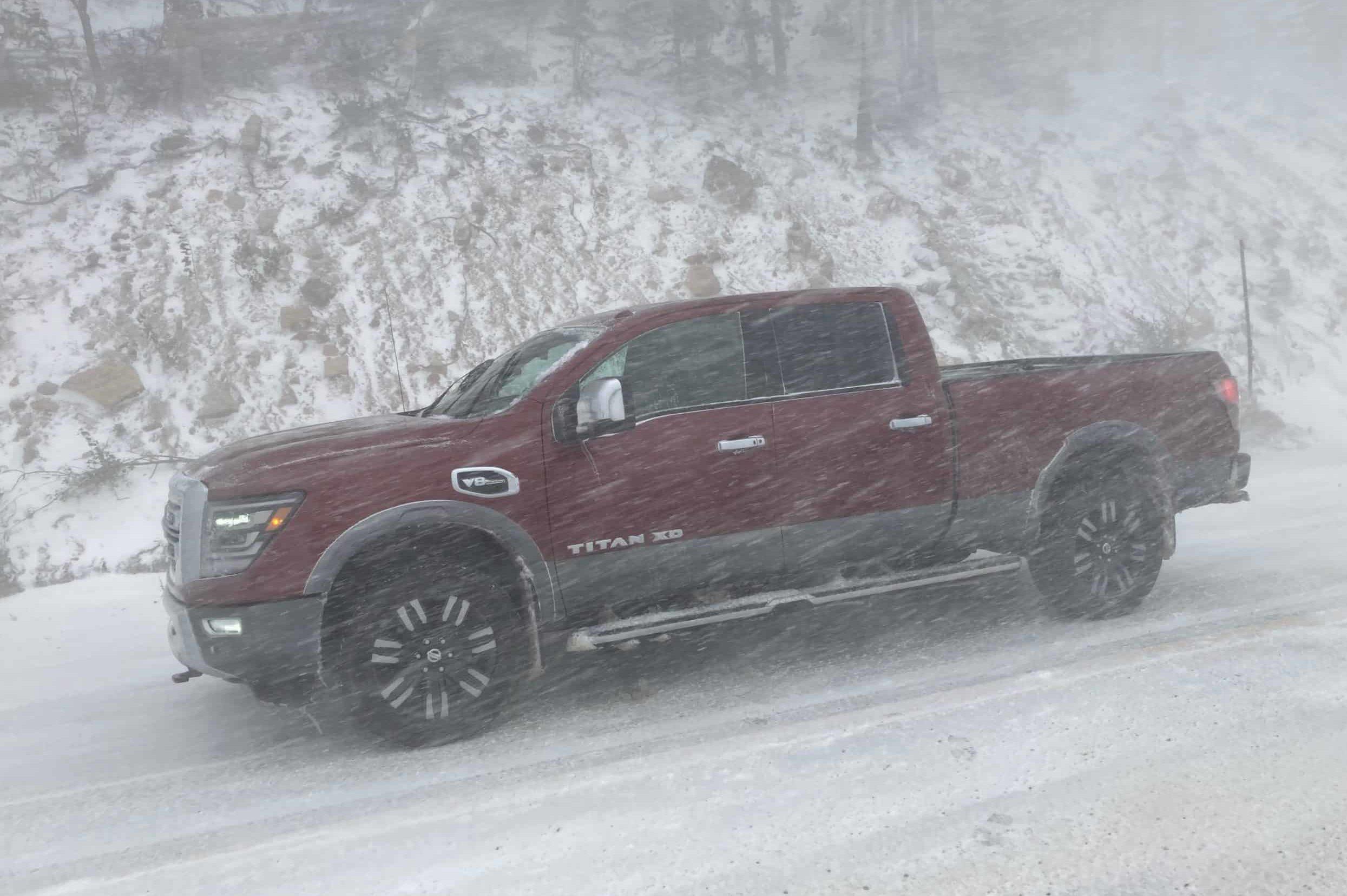 Nissan Titan XD in the snow