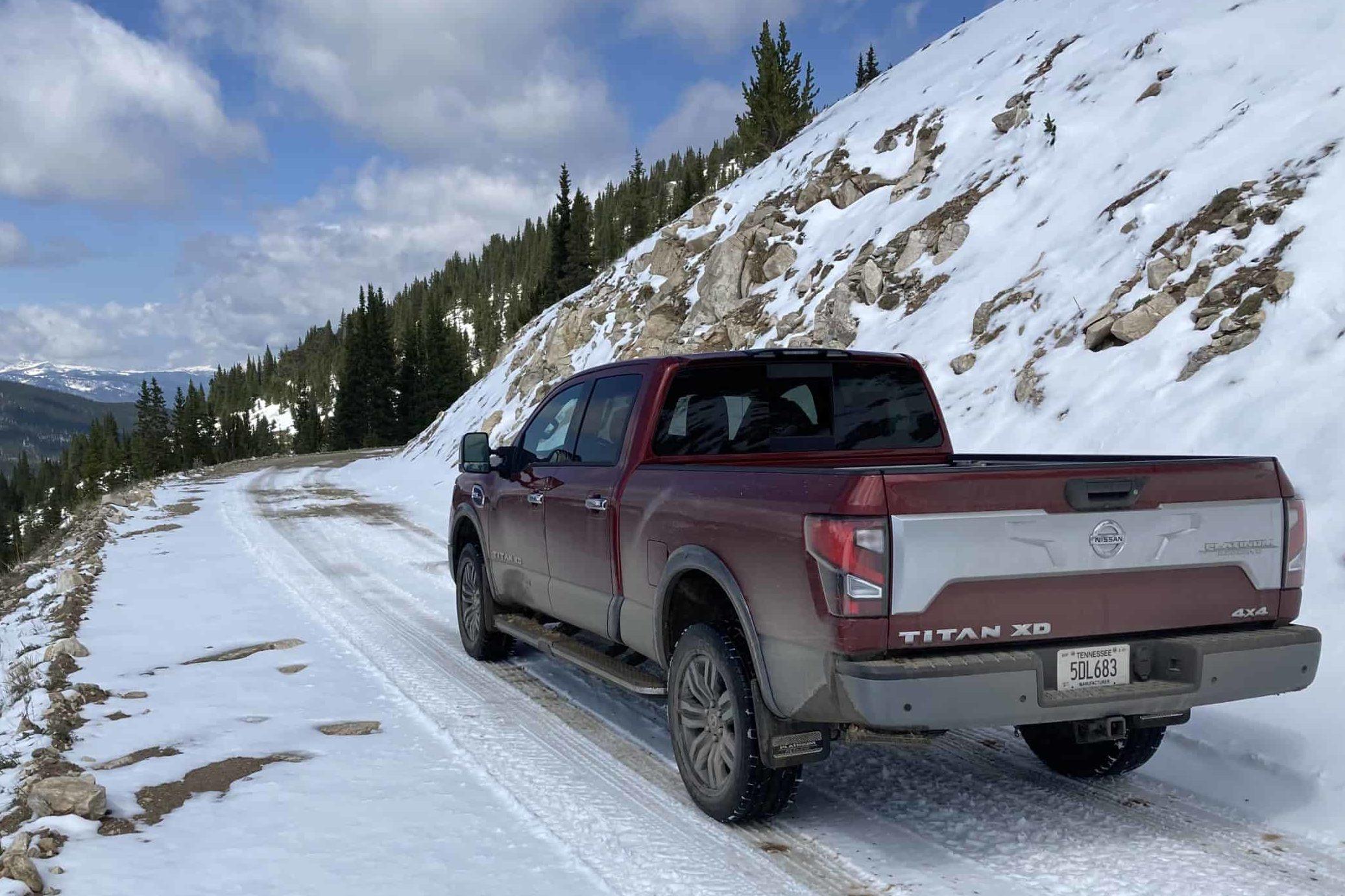 titan xd on snowy road