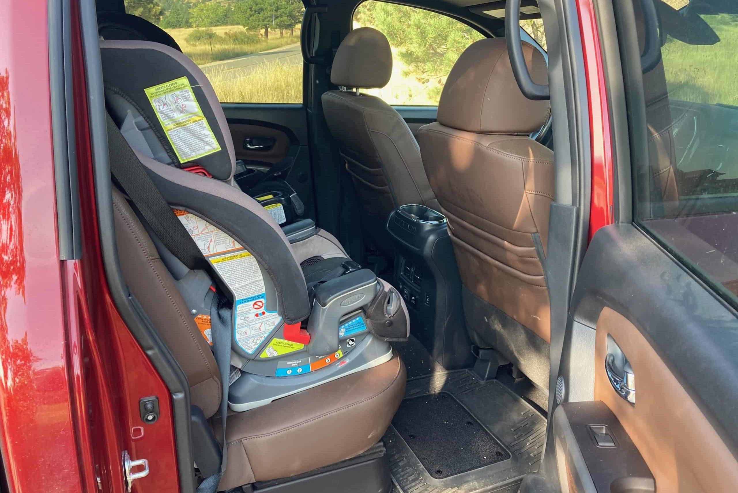 2020 Nissan Titan XD back seat car seats